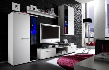 Biela obývacia stena Sigma 3
