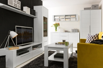 Biela obývacia izba Blanc