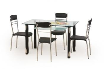 Sklenený stôl Marcos 2 - čierny