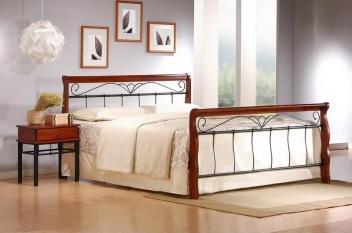 Kovová manželská posteľ Tasia 3