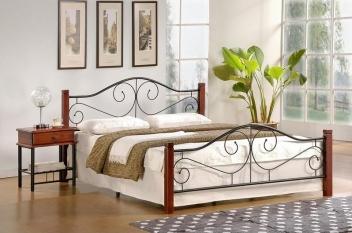 Kovová manželská posteľ Maneto