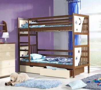 Moderná detská poschodová posteľ Katrina
