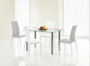 Sklenený jedálenský stôl Makis