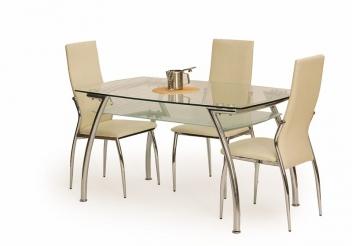 Sklenený jedálenský stôl Edin