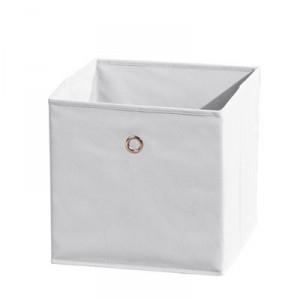 Látkový úložný box Heli 1 - biely