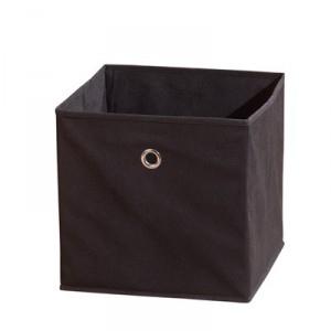 Látkový úložný box Heli 2 - čierny