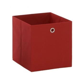 Látkový úložný box Heli 5 - červený