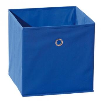 Látkový úložný box Heli 7 - modrý