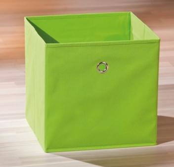 Látkový úložný box Heli 9 - zelený