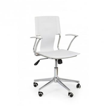 Biela kancelárska stolička Levia 1