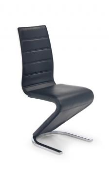 Čalúnená jedálenská stolička Naomi - čierna