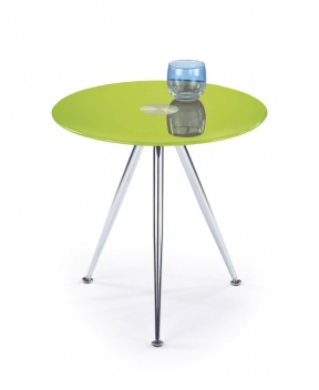 Okrúhly odkladací stolík Kinet 3 - limetkový