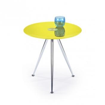 Okrúhly odkladací stolík Kinet 4 - žltý