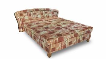 Čalúnená posteľ s úložným priestorom Amadora