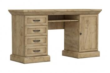 Rustikálny písací stôl Meryl - dub kraft