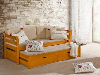 Praktická jednolôžková posteľ s prístelkou Taurus