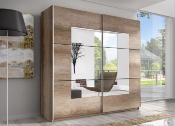 Zrkadlová šatníková skriňa s posuvnými dverami Anael