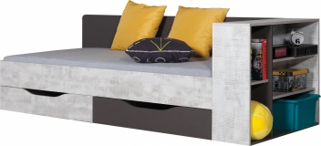 Detská posteľ s policami Timi 1