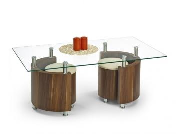 Konferenčný stolík s taburetmi Simao 3