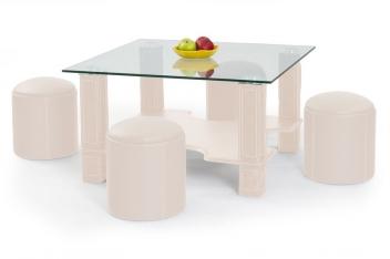 Konferenčný stolík s taburetmi Merad