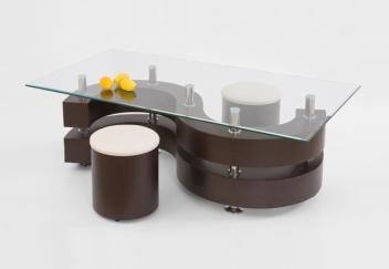 Konferenčný stolík s taburetmi Ronen 2