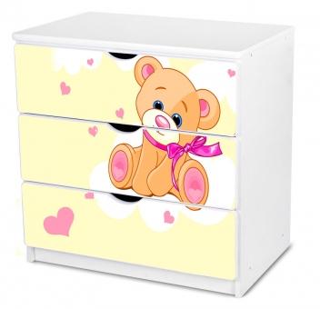 Komoda do detskej izby s medvedíkom