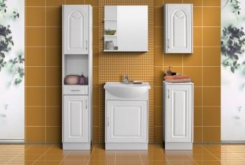 Biely kúpeľňový nábytok Tulipa