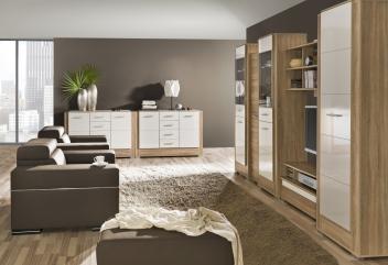 Biela obývacia zostava z lamina Korvin 8