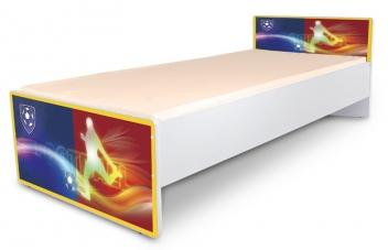 Jednolôžková detská posteľ s motívom Futbal - klub