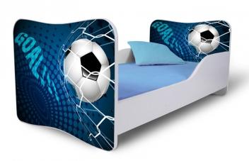 Jednolôžková posteľ pre chlapcov so zábranou Futbal