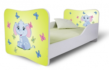 Detská posteľ so zábranami Sloník