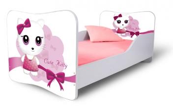 Detská posteľ Cute Kitty ružová