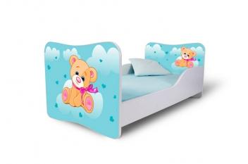 Detská posteľ pre malé deti so zábranou Medvedík