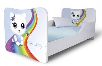 Detská posteľ Cute Kitty modrá