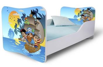 Detská posteľ so zábranou Piráti