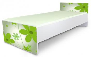 Jednolôžková detská posteľ Kvetiny