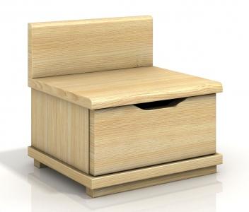 Nočný stolík Berit z masívu borovice