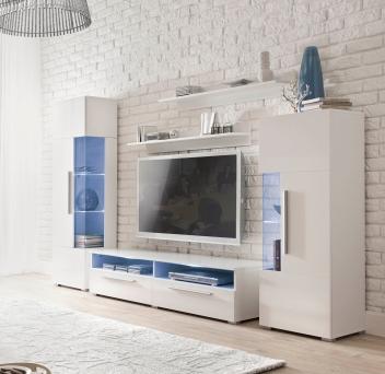 Biela obývacia stena Misty